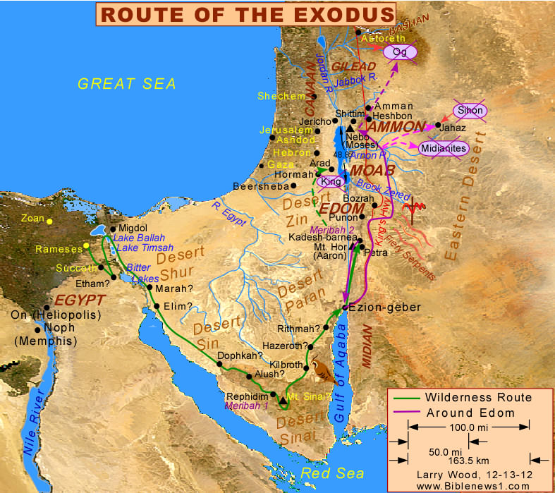 Map Of Hormah AtoZMoms Blog - Map of egypt moses